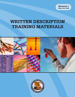 Written Description Training Materials