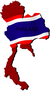 Thailand Flag Map