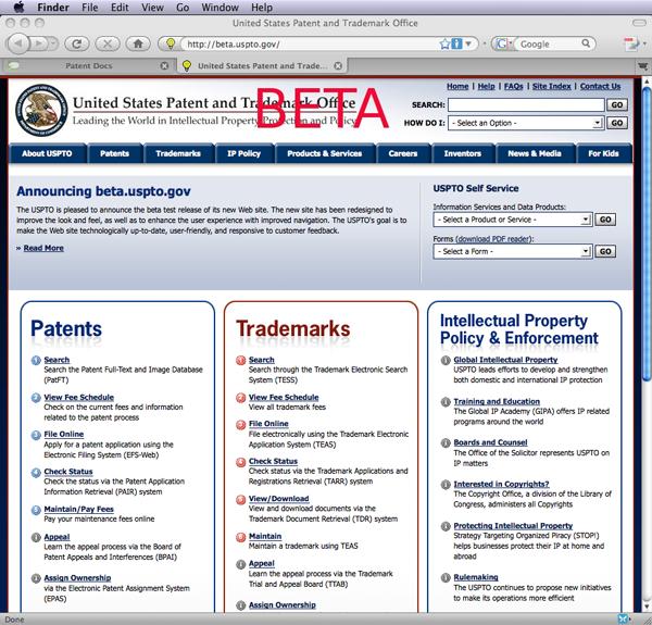 USPTO Beta Website