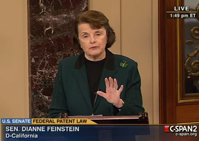 Feinstein on Senate Floor