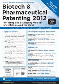 Biotech & Pharmaceutical Patenting 2012-1