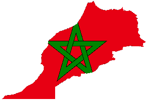 Morocco Flag Map
