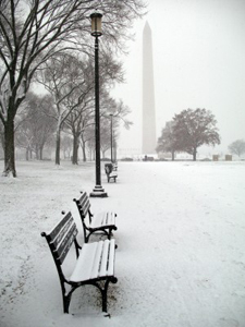Washington - Monument & Snow Snow