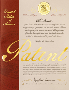 New Patent Cover